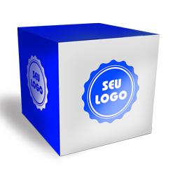 Cubo Promocional - 50 unidades - 150x150mm em Couché Brilho 300g - 4x0 - Verniz Total Brilho Frente - Faca Padrão (cód. 21087)