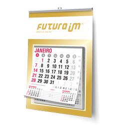 Folhinha Comercial - 50 unidades - 270x370mm em Duplex Ouro 300g - 4x0 - Sem Cobertura - Vareta - Bloco Calendário 2020 (cód. 16880)