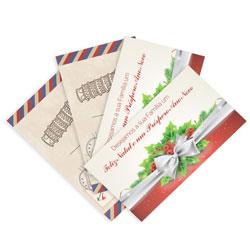 Postal - 50 unidades - 88x148mm em Couché Fosco 300g - 4x4 - Laminação Fosca Frente e Verso -  (cód. 8642)