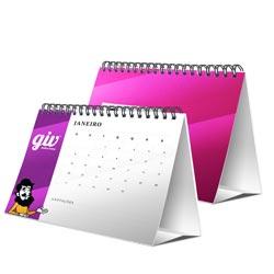 Calendário de Mesa 24 Páginas