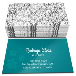 Cartão de Visita - 500 unidades - 48x88mm em Couché Brilho 250g - 4x1 - Verniz Total Brilho Frente e Verso -  (cód. 4546)