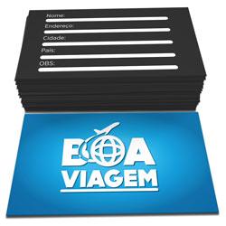 Cartão de Visita - 500 unidades - 48x88mm em Couché Brilho 300g - 4x1 - Sem Cobertura -  (cód. 4576)
