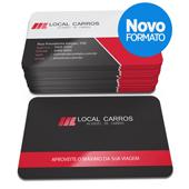 Cartão de Visita - 500 unidades - 54x85mm em Couché Fosco 300g - 4x4 - Laminação Fosca e Verniz Localizado F/V - 4 Cantos Arredondados (cód. 16021)
