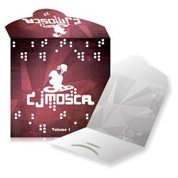 Envelope CD Encaixe - 500 unidades - 125x125mm em Couché Brilho 300g - 4x1 - Verniz Total Brilho Frente - Faca Padrão (cód. 11033)