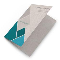Folders - 500 unidades - 297x420mm em Reciclato 240g - 4x0 - Sem Cobertura - Vinco Central (cód. 11483)