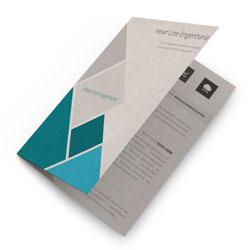 Folders - 500 unidades - 297x420mm em Reciclato 240g - 4x1 - Sem Cobertura - Vinco Central (cód. 11488)