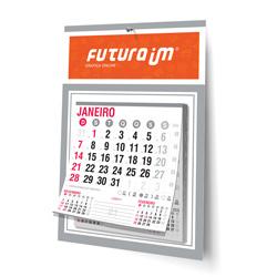Folhinha Comercial - 500 unidades - 270x370mm em Duplex Prata 300g - 4x0 - Sem Cobertura - Furo 7mm - Bloco Calendário 2020 (cód. 2374)