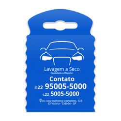 Lixeira para Carro Impressão em Branco - 500 unidades - 175x260mm em TNT Azul   - 1x0 - Sem Cobertura - Impressão em Branco (cód. 23316)