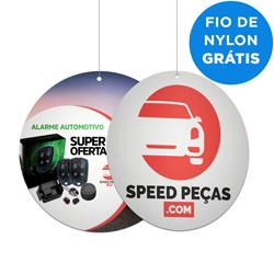 Cardápio A4 - 230x230mm em PVC Branco 0,3mm  - 4x4 - Sem Cobertura - Corte Redondo - Carretel Fio de Nylon - Faca Padrão
