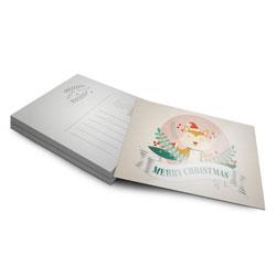 Postal - 500 unidades - 105x148mm em Couché Brilho 250g - 4x1 - Verniz Total Brilho Frente -  (cód. 8921)