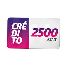 Crédito Pré-Pago R$ 2500,00