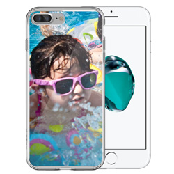Capinha de Celular Apple iPhone 7 Plus - 1 unidade - 75x154mm em PS Transparente  - 4x0 - Sem Cobertura -  (cód. 19370)