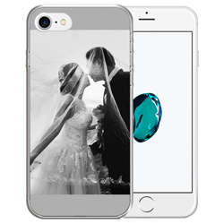 Capinha de Celular Apple iPhone 7 - 1 unidade - 65x135mm em PS Transparente  - 4x0 - Sem Cobertura -  (cód. 19376)