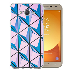 Capinha de Celular Samsung Galaxy J7 Neo - 1 unidade - 78x150mm em PS Transparente  - 4x0 - Sem Cobertura -  (cód. 19544)