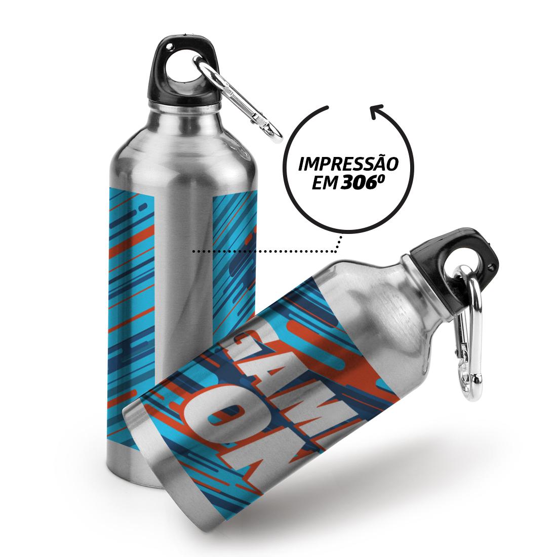 Squeeze Prata 600 ml - 25 unidades - 190x70mm em Alumínio  - 4x0 -  - Personalizado (cód. 28180)
